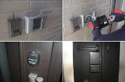 玄関に設置するホームセキュリティの写真