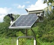 ソーラー式防犯カメラの画像